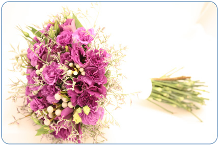 purple wedding boquet brisbane-queensland